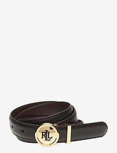Leather Belt - BLACK/DARK BROWN