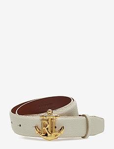 Anchor Leather Belt - VANILLA
