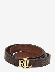 Reversible Leather Belt - vyöt - lauren tan/dark b