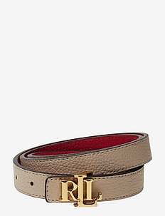 Reversible Leather Belt - LIGHT SAND/RED