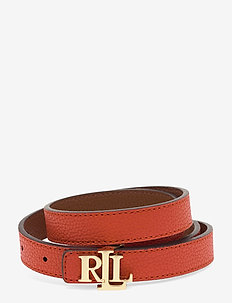 Reversible Leather Belt - PUMPKIN/LAUREN TA