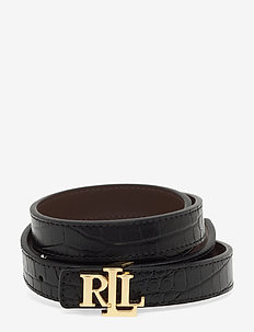 Reversible Leather Belt - BLACK/DARK BROWN