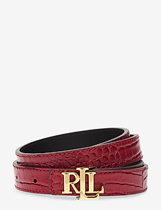 Reversible Leather Belt - RED/BLACK