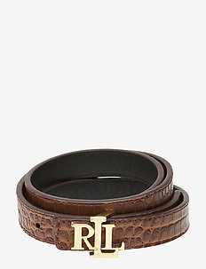 Reversible Leather Belt - riemen - umber brown/black
