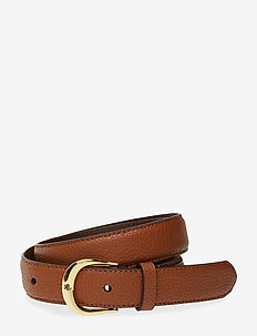 Leather Belt - LAUREN TAN