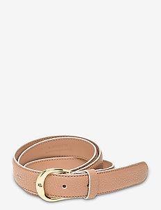 Leather Belt - belter - nude/vanilla