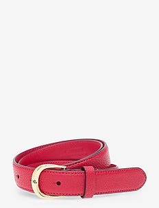 Leather Belt - belter - rl 2000 red/laure