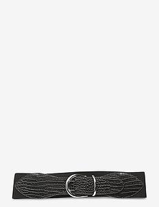 Stretch Leather Belt - skärp - black