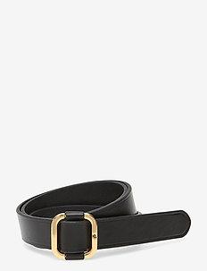 Leather Slide Buckle Belt - belter - black
