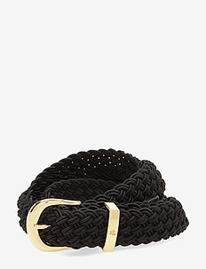 Braided Stretch Belt - vyöt - black