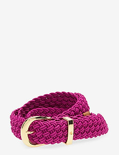 Braided Stretch Belt - vyöt - deep fuchsia