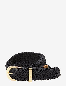 Braided Stretch Belt - vyöt - lauren navy