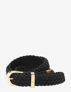 Braided Stretch Belt - LAUREN NAVY