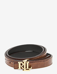 Reversible Leather Belt - bælter - deep saddle tan/b