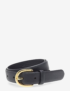Charm Saffiano Leather Belt - ceintures - lauren navy