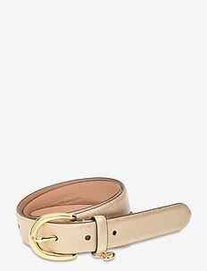 Charm Saffiano Leather Belt - riemen - warm gold