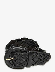 Braided Leather Belt - bælter - black