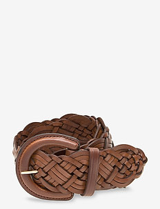 Braided Leather Belt - bælter - cuoio