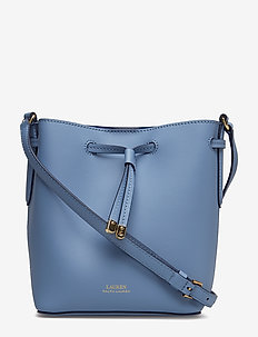 Leather Debby II Mini Drawstring Bag - BLUE MIST/COSMIC