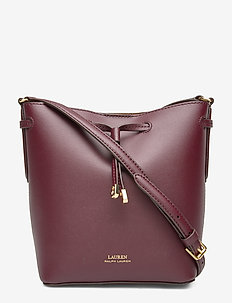 Leather Debby II Mini Drawstring Bag - BORDEAUX/FIELD BR