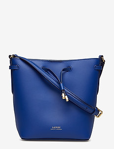 Leather Debby II Mini Drawstring Bag - bucket bags - cosmic blue/blue