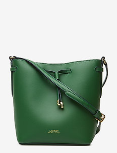Leather Debby II Mini Drawstring Bag - GREEN CLOVER/NAVY
