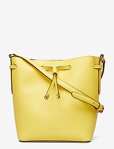 Leather Debby II Mini Drawstring Bag - LEMON SORBET/ALPA