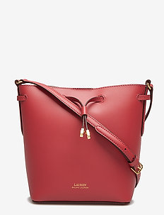 Leather Debby II Mini Drawstring Bag - RASPBERRY GELATO/
