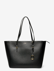 Saffiano Leather Tote - BLACK