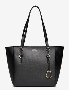 Saffiano Leather Medium Tote - BLACK
