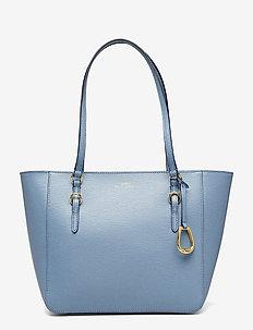Saffiano Leather Medium Tote - BLUE MIST