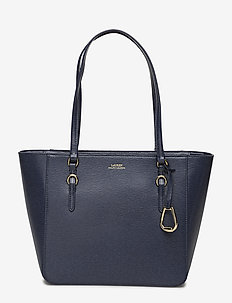 Saffiano Leather Medium Tote - NAVY