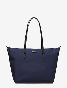 Nylon Tote - fashion shoppers - navy