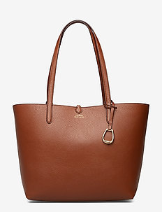 Reversible Faux Leather Tote - BOURBON/PAINTED S