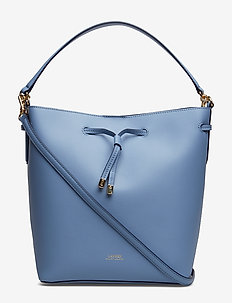 Leather Debby Drawstring Bag - BLUE MIST/COSMIC