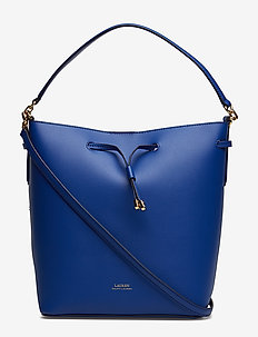 Leather Debby Drawstring Bag - COSMIC BLUE/BLUE