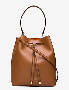 Leather Debby Drawstring Bag - bucket-laukut - lauren tan/monarc