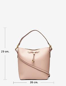 Leather Debby Drawstring Bag - MELLOW PINK/PORCI