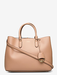 Leather Large Marcy Satchel - sacs a main - nude/nude