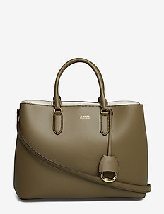 Leather Marcy Satchel - SAGE/VANILLA