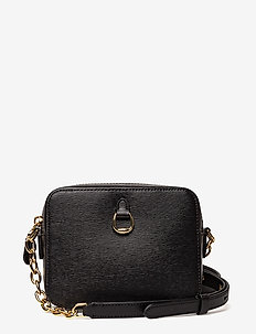 Leather Chain-Link Camera Bag - BLACK