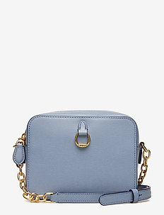 Leather Chain-Link Camera Bag - BLUE MIST