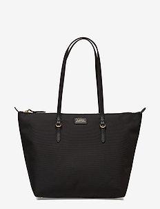 Nylon Shopper Tote - BLACK