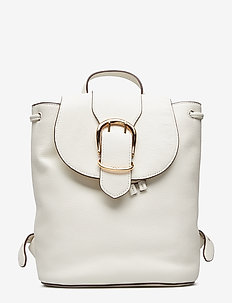 Pebbled Leather Backpack - VANILLA