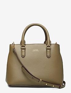 Mini Leather Satchel - SAGE/VANILLA