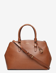 Leather Double-Zip Satchel - LAUREN TAN