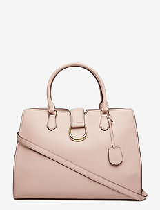 Large Pebbled Leather Satchel - MELLOW PINK