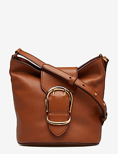 Pebbled Leather Bucket Bag - LAUREN TAN