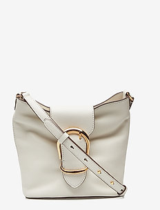 Pebbled Leather Bucket Bag - VANILLA