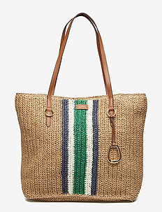 Crocheted Straw Large Tote - NATURAL - G/N VER